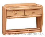 dřevěná závěsná polička z masivního dřeva borovice drewfilip 45