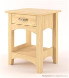 dřevěný noční stolek z masivního dřeva borovice Castello CAS-S-41 drewm