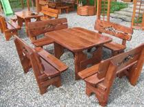 dřevěný zahradní nábytek vencl set 1+4 Lezka z Rozeta botodre