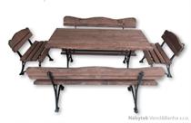 kovový dřevěný zahradní nábytek  1S+2K+2L K13 jandr