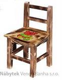 dřevěná dětská židlička z jehličnatého masivního dřeva drewfilip 3