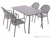 kovový zahradní nábytek Maja Grey 4+1 homega