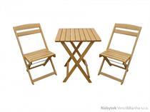dřevěný zahradní, balkonový nábytek Krokus 1+2 trim