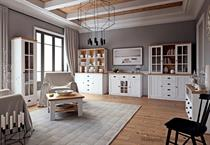 sektorový nábytek, obývací pokoj z dřevotřísky Prowansja bílý gala