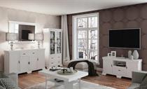 sestava nábytku, obývací pokoj z dřevotřísky galá bílá