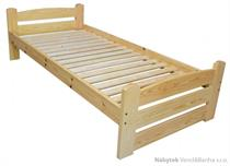 dřevěná jednolůžková postel z masivního dřeva Standart chalup