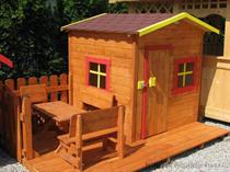 """dřevěná zahradní dekorace """"Dětský domek"""" N7 botodre"""