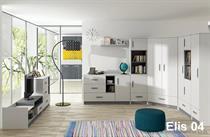 moderní obývací stěna, obývací pokoj z MDF Elis 04 adrk