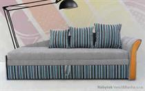 válenda, čalouněná jednolůžková postel Maciej jarex