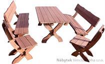 dřevěný zahradní nábytek de Lux4 1S+2L+2K  euromeb