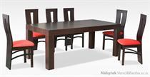 moderní jídelní dřevěný rozkládací stůl S38 chojm