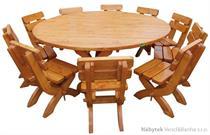 dřevěný zahradní nábytek kulatý 1S+10K K18 jandr