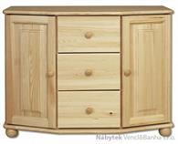 dřevěná komoda, prádelník z masivního dřeva borovice KD135 pacyg