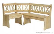 dřevěná rohová jídelní lavice z masivního dřeva borovice NR108 pacyg