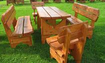 dřevěný zahradní nábytek vencl set 1+2+2 Zwykly 2 botodre
