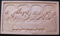 """dřevěná dekorace, dřevěný ručně vyřezávaný obraz s motivem """"Poslední večeře páně"""""""