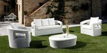 Luxusní sedací souprava, zahradní ratanový nábytek, z umělého ratanu PRSF145 jandr