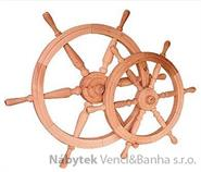 dřevěná závěsná dekorace námořnické kormidelní kolo ster střední z masivního dřeva drewfilip 24