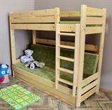 dřevěná patrová postel masivní rozkládací Montana chalup