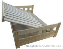 dřevěná jednolůžková postel s úložným prostorem Wenecja chalup