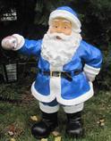 zahradní dekorace z polyesteru Santa Claus Z58 modrý welt