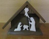 dřevěný vánoční dřevěný betlém mini