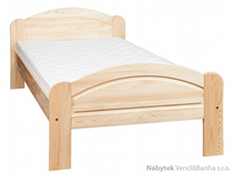 dřevěná jednolůžková postel z masivního dřeva borovice L1 jandr