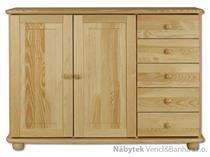 dřevěná komoda, prádelník z masivního dřeva borovice KD144 pacyg