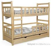 dřevěná patrová postel z masivního dřeva borovice Wox 8 chojm
