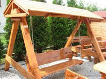 dřevěná zahradní houpačka se stříškou Zwykla 2 botodr