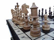dřevěné šachy umělecké STAROPOLSKE 120 mad