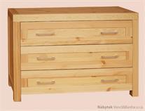 moderní dřevěná komoda 85, prádelník z masivního dřeva borovice DEL SOL drewfilip 20