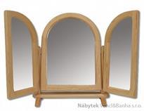 dřevěné zrcadlo toaletka z masivního dřeva borovice LT103 pacyg