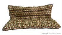 polstr na houpačku 140 cm hnědo barevná mozaika, polstry na zahradní nábytek lkv