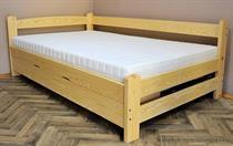 dřevěná jednolůžková postel s úložným prostorem Energy chalup