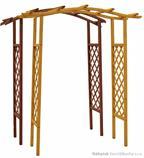 dřevěné prvky na dřevěná zahradní pergola, zahradní dekorace PE8 jandr