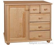 dřevěná komoda, prádelník z masivního dřeva borovice drewfilip 41