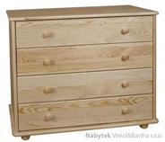 dřevěná komoda, prádelník z masivního dřeva borovice drewfilip 13