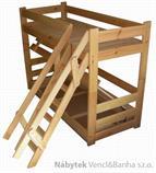 dřevěná patrová postel z masivu, palanda Extremum chalup
