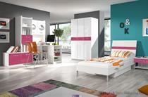 sestava nábytku moderní dětský pokoj z dřevotřísky Raj 1 karol