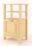 dřevěný televizní RTV stolek z masivního dřeva borovice Castello CAS-S-35 drewm