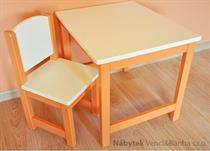 dětský dřevěný jídelní stolek drewm