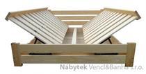 dřevěná dvojlůžková manželská postel s úložným prostorem Harmonia chalup