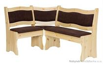 dřevěná čalouněna rohová jídelní lavice z masivního dřeva borovice NR109 pacyg