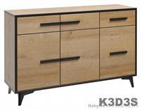 moderní komoda z dřevotřísky Frida K3D3S gala