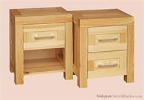 moderní dřevěný noční stolek 1S z masivního dřeva borovice z kol. Del Sol drewfilip 24