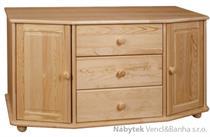 dřevěná komoda, prádelník z masivního dřeva borovice drewfilip 44