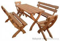 dřevěný zahradní nábytek 2+2+1 Zagloba 01