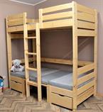dřevěná patrová postel masivní rozkládací Family chalup