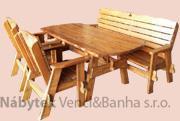 dřevěný zahradní nábytek set Jedrzej 1+1+2 (140x70)  drewfilip 26
